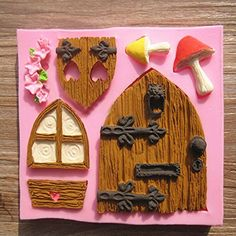 3D Fairy House Door Silicone Fondant Mould Cake Decorating Chocolate Mold Tool