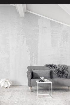 betonlook behang - Brussels Huis, Aalst