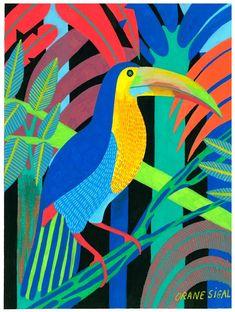 Art Cube, Art Deco Paintings, Jungle Art, Posca Art, Grafiti, Art Et Illustration, Art N Craft, Marker Art, Bird Art