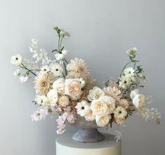 Floral centerpieces, white floral arrangements, white centerpiece, flower a White Floral Arrangements, Wedding Flower Arrangements, Floral Centerpieces, Floral Bouquets, Wedding Centerpieces, Floral Wreath, White Centerpiece, Vase Arrangements, Pink Bouquet