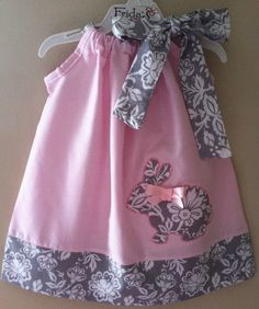 Gorgeous Bunny pastel pink pillowcase style dress by fridascloset1, $25.00