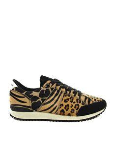 Zapatillas de deporte para correr con estampado de leopardo de Religion