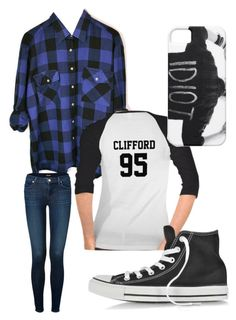 """Michael Clifford Inspired Outfit"" by kat-kats ❤ liked on Polyvore featuring мода, J Brand, Converse и michaelclifford"