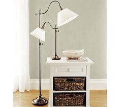 In white for behind sofa?  Adair Floor Lamp #potterybarn