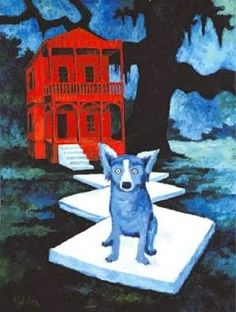 Mrs. Knight's Smartest Artists: Blue Dog art, celebrating George Rodrigue