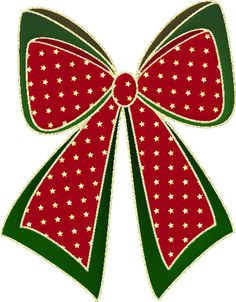 Free Christmas Graphics: Red Green and Gold Christmas Bow