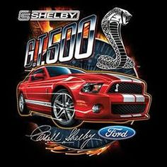 Carroll Shelby GT500 Red Mustang Licensed Mustang UNISEX T Shirt 17930Di