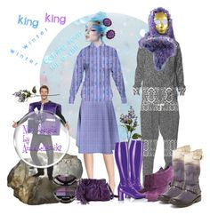 """""""King winter is coming for a visit."""" by annabelle-h-ringen-nymo ❤ liked on Polyvore featuring Deborah Lippmann, Sur La Table, Funtasma, Latitude Femme, Steve Madden, Kenneth Jay Lane, Gucci and annabellerockz"""