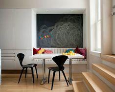 moderne Eckbank Küche-Kinder schwarze  Taffel