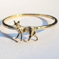 verameat | foxy ring in brass