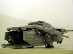 https://flic.kr/p/ajvgtj | CT-21 Transport Dropship | Cargo bay open. Big enough for an APC in there, I just need to build it!