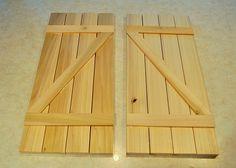 Make your own barn door shutters