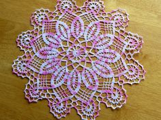 Vintage Beautiful CROCHETED HANDMADE DOILY by CreativeWorkStudios, $14.00