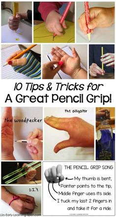 Links to great ideas and videos to help your little one develop an excellent pencil grip! There's a free song poster, too!