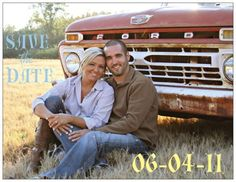 LOVE this picture! Super excited that we have an old truck to take photos with! :)