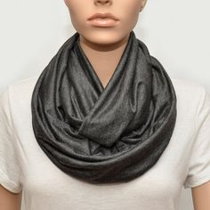SPECIAL OFFER Dark grey Infinity scarf by NyUrbanAccessories