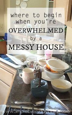 Are you tired of the mess and clutter that seem to be absolutely everywhere you look? Are you tired of feeling continually overwhelmed and like you just can't catch up? There really is a way out of the mess and the overwhelm! It won't happen overnight, but these steps will help you get on track to a home you can keep clean and enjoy!