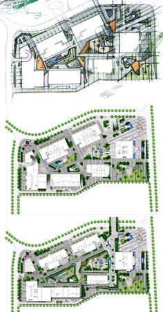 15 Trendy ideas for landscape masterplan house Commercial Landscape Design, Design Commercial, Landscape Design Plans, Landscape Architecture Design, Urban Landscape, Landscape Architects, House Landscape, Urban Design Concept, Urban Design Diagram