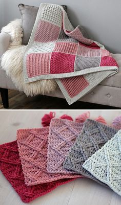 Cosy Afghan Crochet ALong - Free Pattern (Beautiful Skills - Crochet Knitting Quilting) - Handarbeit Crochet Quilt, Afghan Crochet Patterns, Knit Or Crochet, Crochet Crafts, Knitting Patterns, Crochet Blankets, Crochet Afghans, Free Knitting, Crochet Baby Blanket Free Pattern