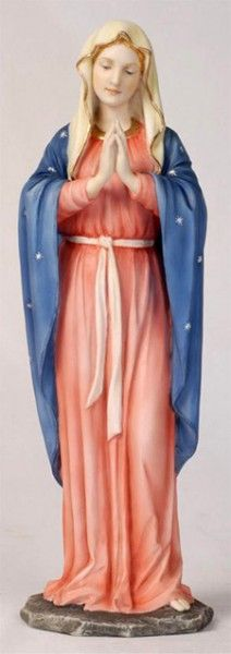 "Praying Madonna Statue - 11.75""H - Multi-Color"