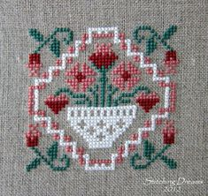 Stitching Dreams: Hearts and Flowers