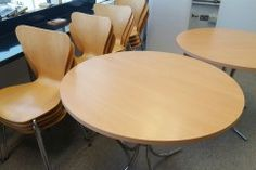 Beech Cafe Tables & Chairs Cafe Tables, Table And Chairs, Office Furniture, Home Decor, Coffee Tables, Business Furniture, Interior Design, Home Interior Design, Home Decoration