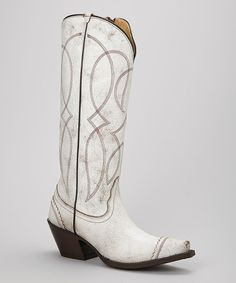 Look what I found on #zulily! Tony Lama Antique White Geneva Cowboy Boot - Women by Tony Lama #zulilyfinds