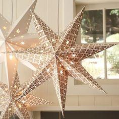 Glowing paper stars