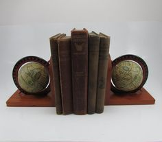 Vintage World Spinning Globe Book Ends by FineLineTreasures, $19.00