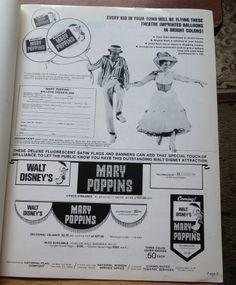WALT DISNEY'S MARY POPPINS VINTAGE PRESSBOOK AD PAD--UNUSED