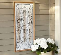 Easter Hippity Hop Sign #potterybarn hopefully goes on sale after Easter