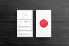 Retro business card template business cards card templates and retro business card template by pixel sauce on creativemarket accmission Image collections