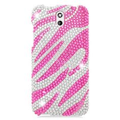 HTC Desire 610 Full Cs Diamond Hot Pk Zebra 329 Protective Case #PH-PDHTC610S329