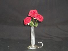 Bud vase I made from a spoon and knife handle