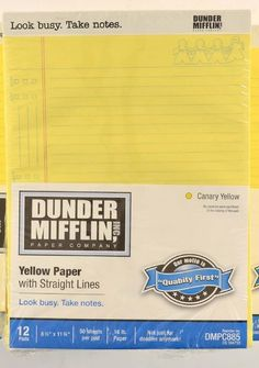 """Office 1800 Dunder Mifflin Writing Note Pad  8.5 x 11.75""""  36 x 50 Pages DMPC885 #DunderMifflin"""