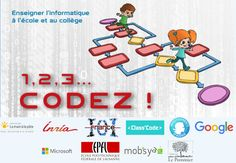 Le+projet+«+1,+2,+3…+codez+!+»+vise+à+initier+élèves+&+enseignants+à+la+science+informatique @Fondation_Lamap+@Inria