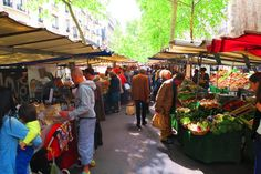 The Saint-Germain des Prés food market in Paris