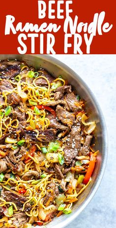 4 Points About Vintage And Standard Elizabethan Cooking Recipes! Beef Ramen Noodle Recipe Is A Quick Stir Fry Using Ramen Noodles, Beef, And Vegetables, With A Savory Stir Fry Sauce. Make This Beef Noodle Stir Fry For A Quick And Easy Dinner Tonight Ramen Stir Fry Using Ramen Noodles, Beef Noodle Stir Fry, Beef And Noodles, Steak Stir Fry, Asian Beef Stir Fry, Beef Ramen Noodle Recipes, Stir Fry Recipes, Top Ramen Recipes, Top Sirloin Recipes