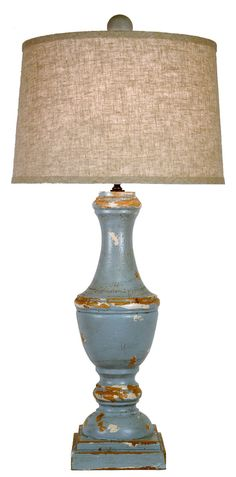 Rustic Blue Lamp