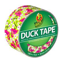 Printed Duck Tape® Brand Duct Tape, Flamingo