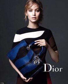 Bag queen: Jennifer Lawrence stars in a new ad campaign for Dior's handbags...
