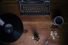 Máquina De Escrever, Registo, Ajuste De Tabela, Vintage
