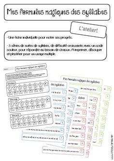 les formules magiques des syllabes, version atelier