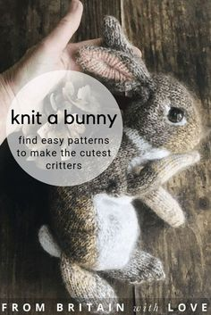 love this dot pebbles rabbit knitting pattern to hand knit the cutest lifelike bunny rabbits and other cute woodland critters including foxes deer dormice ducks birds and. Baby Knitting Patterns, Knitting Blogs, Baby Patterns, Knitting Projects, Hand Knitting, Simple Knitting, Animal Patterns, Woodland Critters, Woodland Animals