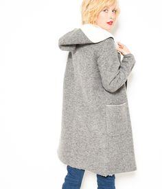 Manteau long en laine Camaïeu 2016