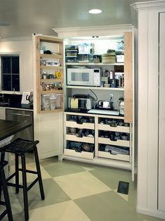 hide appliances and i sort of like the floor thatd be pretty kitchen storagekitchen pantry designkitchen - Pantry Design Ideas