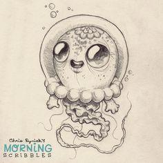 Jelly Astronaut critter. #morningscribbles