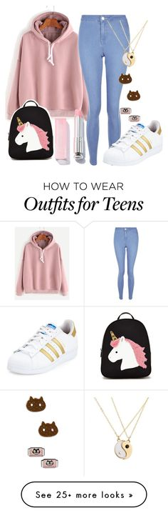 """""""Untitled #535"""" by hey-there-its-kylah on Polyvore featuring New Look, Forever 21, adidas and Cartoon Network"""