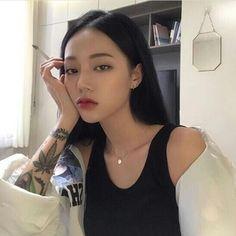 ulzzang girl girls woman women aesthetic korean japanese chinese beauty pretty beautiful lifestyle ethereal beauty girls east asian minimalistic grunge soft pastel light cute adorable 울짱 여자 r o s i e Ulzzang Korean Girl, Cute Korean Girl, Women Smoking, Girl Smoking, Asian Tattoos, Girl Tattoos, Uzzlang Girl, Girl Face, Asia Girl
