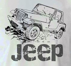 Jeep Wrangler Drawing T Shirt SMLXL by TJaysTees on Etsy, $18.00